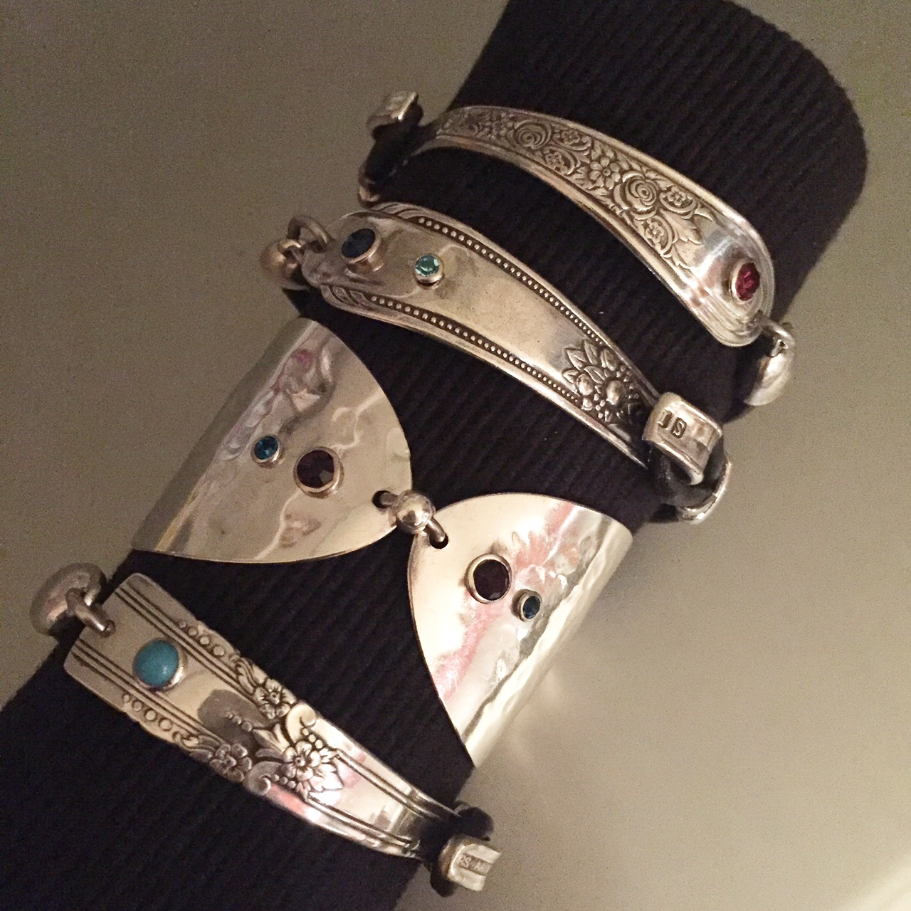Hook and Leather Bracelets