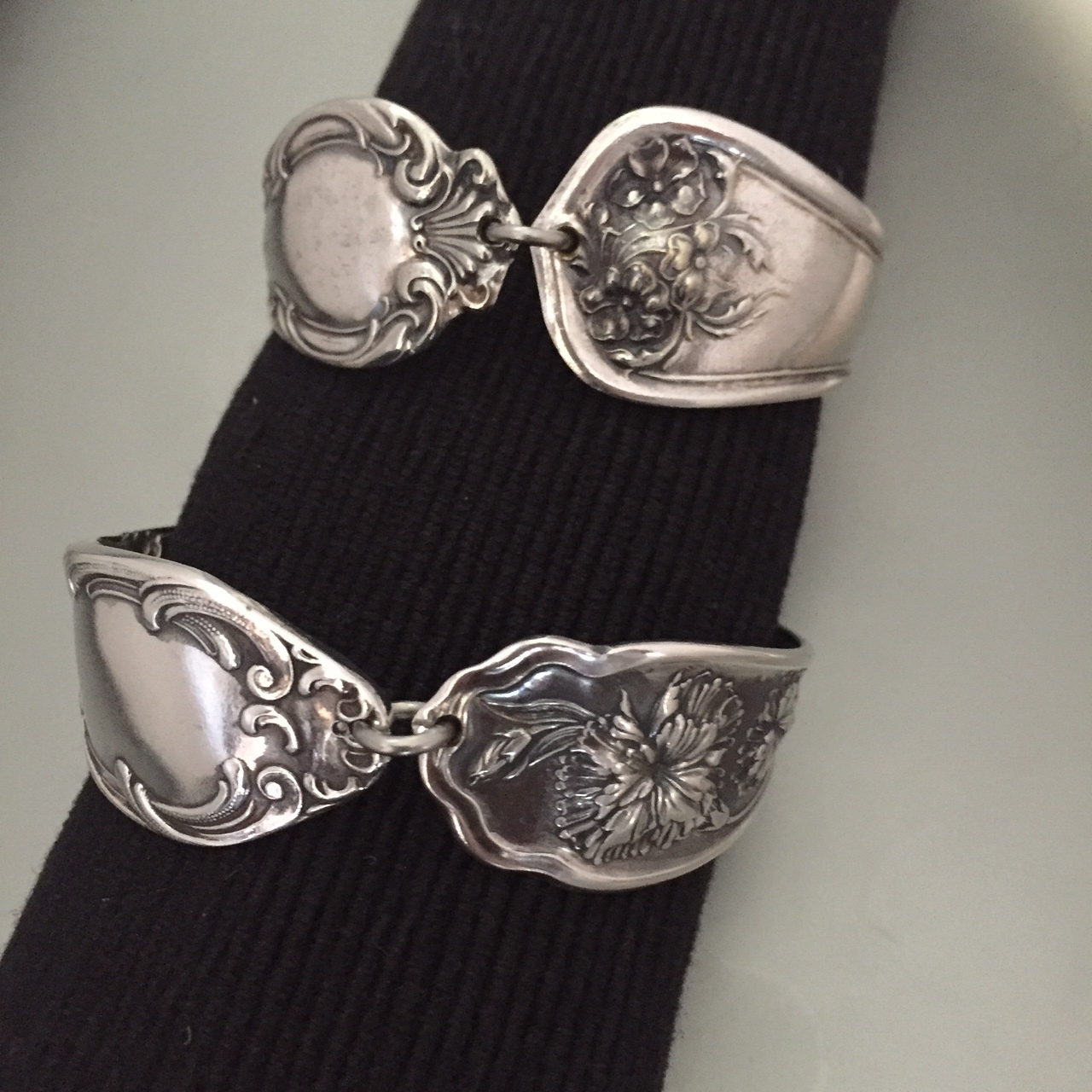 Asymmetrical Spoon Cuffs
