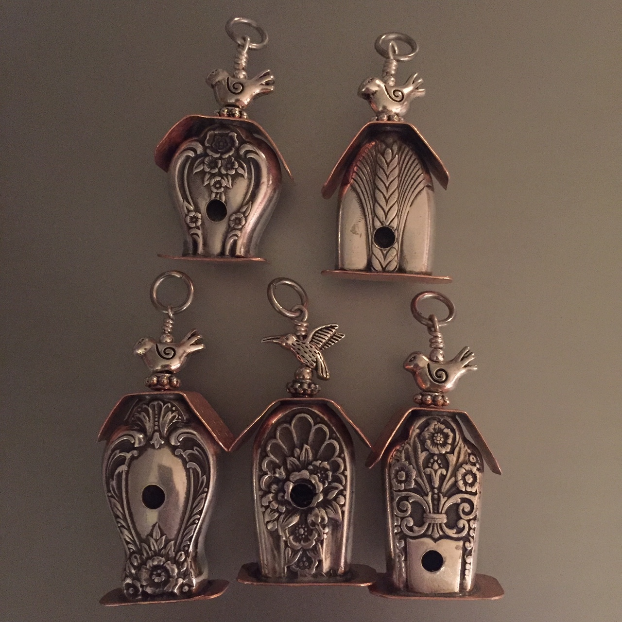 Bird House Pendants