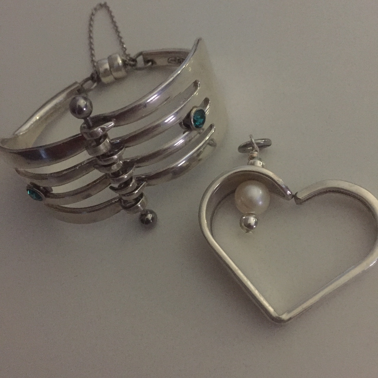 Floating Heart and Fork Cuff